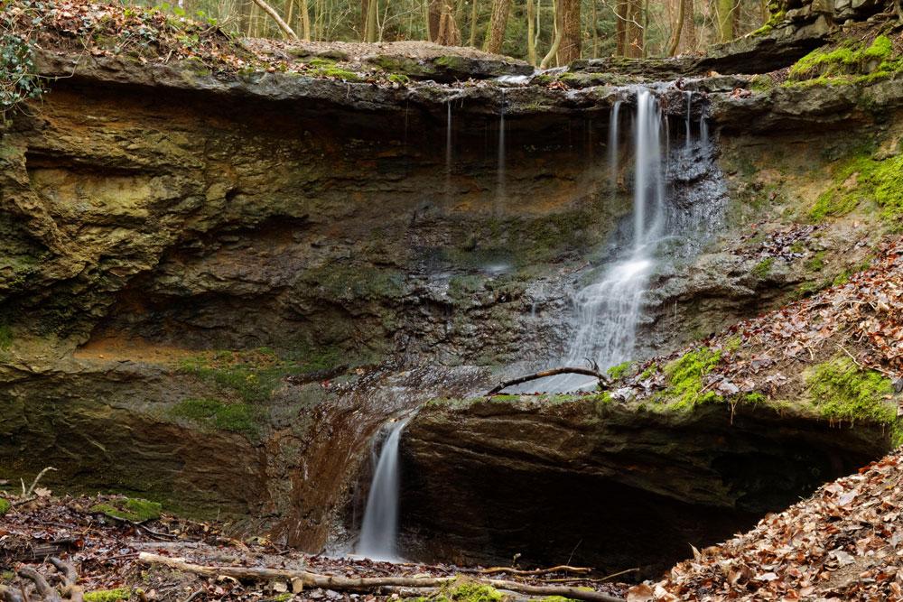 Fotowanderung Franken klingender Wasserfall